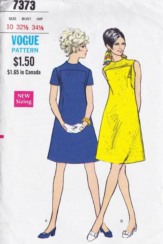 1960s Misses A Line Dress Vintage Sewing by MissBettysAttic, $15.00