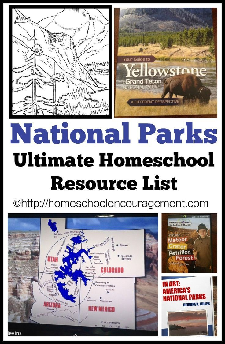 National Parks - Resource List for Homeschooling Families or Learning