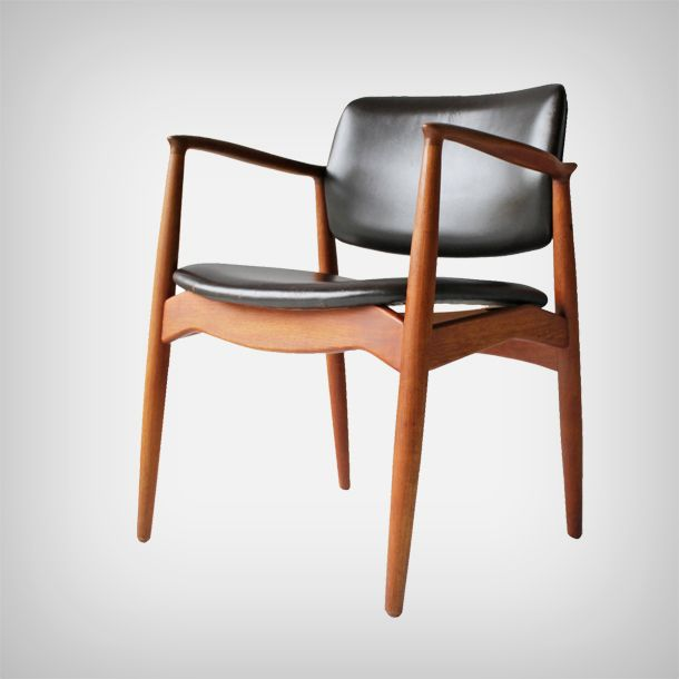 Teak And Leather Armchair By Erik Buch For Ørum Møbler | Made In Denmark |  MID