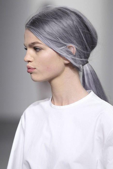 purple-gray hair