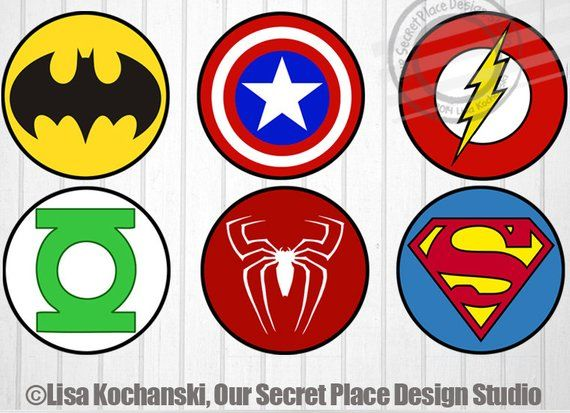 Instant Download Superhero Logo Stickers Superhero Stickers Etsy In 2021 Superhero Baby Shower Superhero Birthday Party Superhero Party