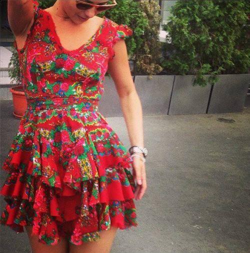 Dana Budeanu dress on Inna