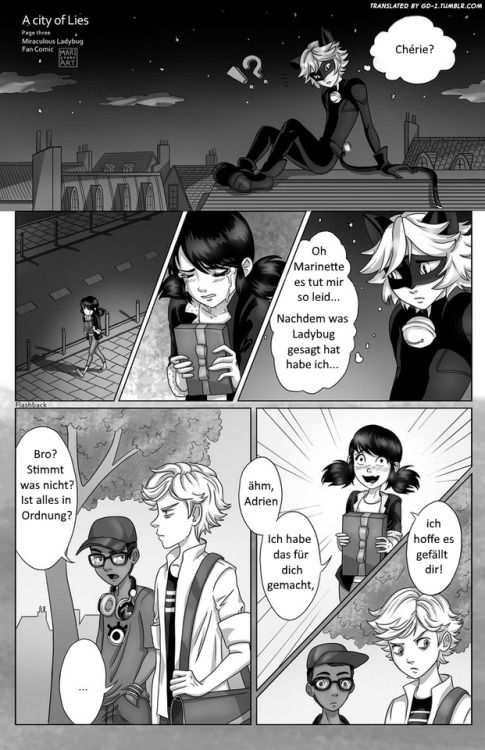 Kapitel 1 - Seite 3 - Ein Comic zu Miraculous Ladybug __________________________________________________________________________________ Übersetzt mit der Erlaubnis von / Translated with the permission of maristoryart.tumblr.com __________________________________________________________________________________ Für mehr Übersetzungen besucht gd-1.tumblr.com