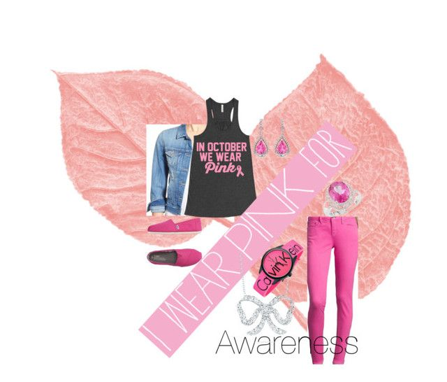 """""""awareness"""" by zlidia ❤ liked on Polyvore featuring Mavi, TOMS, Roberto Coin, Calvin Klein, Miadora and IWearPinkFor"""