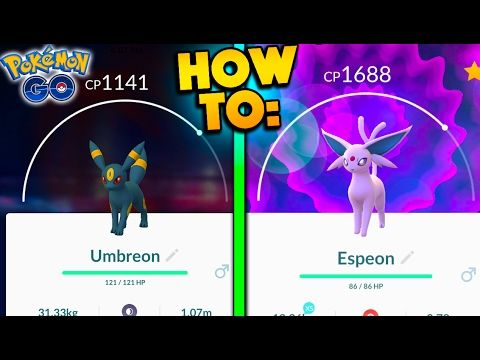 HOW TO GET UMBREON & ESPEON IN POKEMON GO! WORLD'S FIRST GEN 2 UMBREON & ESPEON EVOLUTIONS! - YouTube