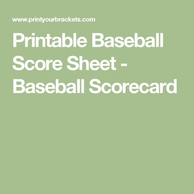 Más de 25 ideas increíbles sobre Baseball scores en Pinterest - baseball score sheet