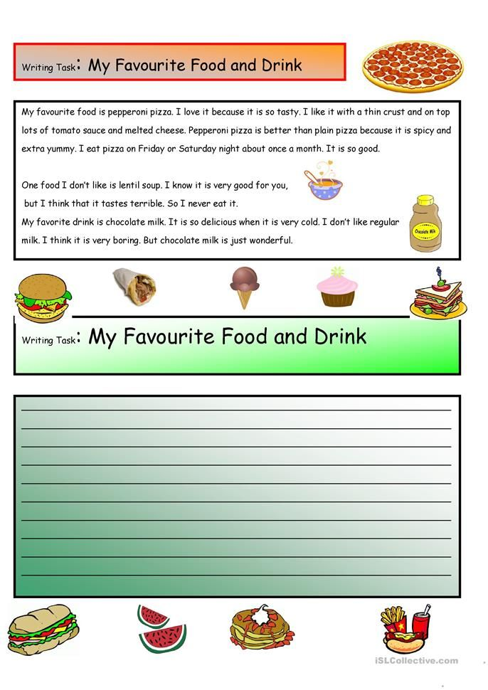 Creative Writing My Favorite Food Drink 12 A1 Level Worksheet Free Esl Printable Ma Recipes Essay In Hindi Favourite Indian For Clas 2