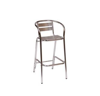 Commercial Round Frame Ladder Back Aluminum Restaurant Bar Stool for Sale