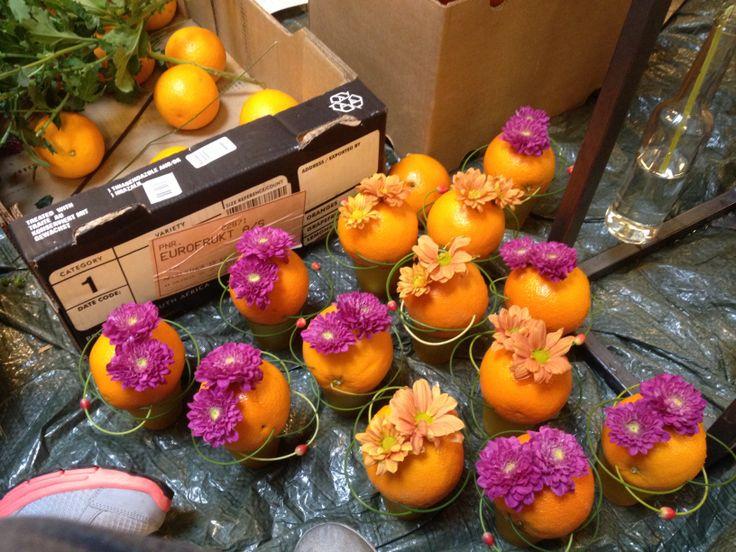 Dekorasjoner appelsiner
