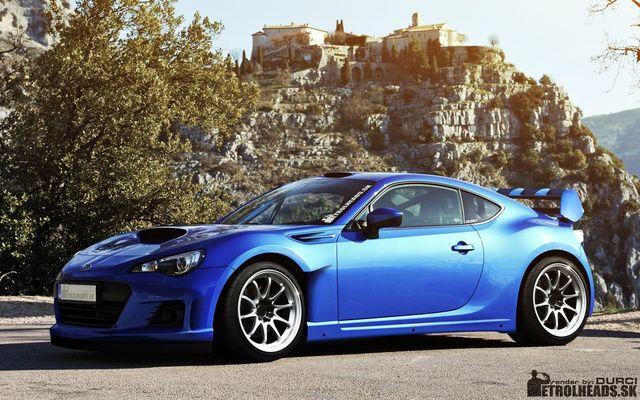Rendered Subaru BRZ Rally