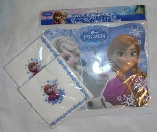 Disney Frozen Party Place Mats And Napkins #Disney #ChildParty