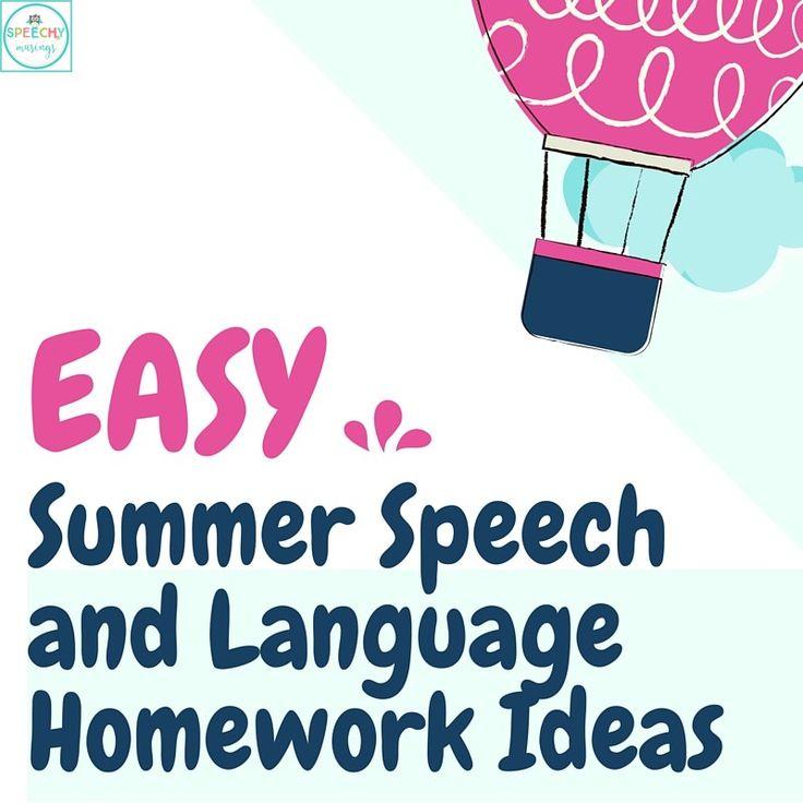 The 25+ best Summer homework ideas on Pinterest Kids summer - speech therapy resume