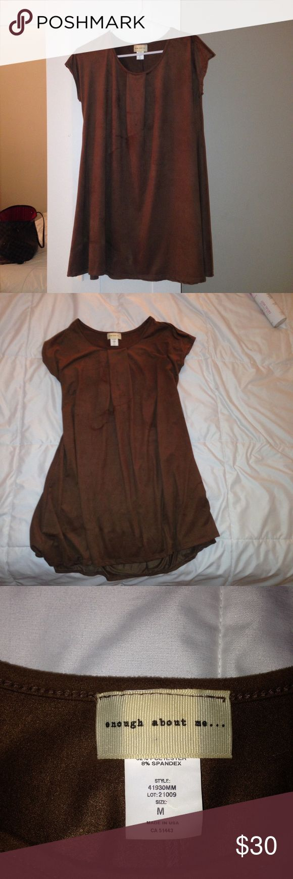Brown Suede Dress Worn once. Suede dress Dresses Mini