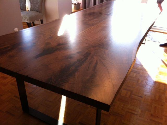 Tree Green Team Live Edge Harvest Table Wood Slab Furniture  Dining room  tables  Pinterest  Trees, Libraries and Desks