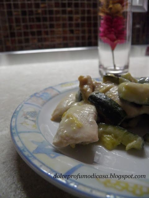 Straccetti di pollo con panna e zucchine - Dieta Dukan