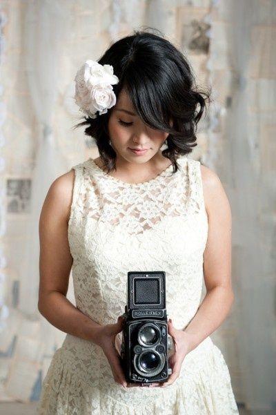 Cute short hair for wedding