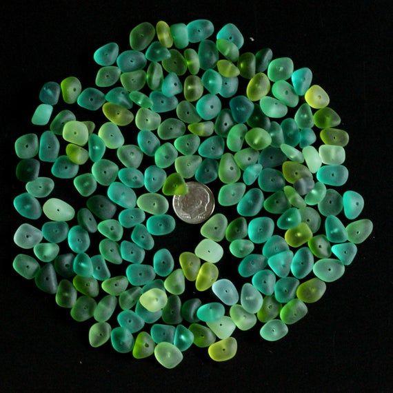 center drilled 2mm big hole sea beach glass 10 pcs lots purple pendant