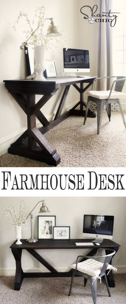 Farmhouse Style Bedroom Desk-love how skinny this is , would blend in anywhere
