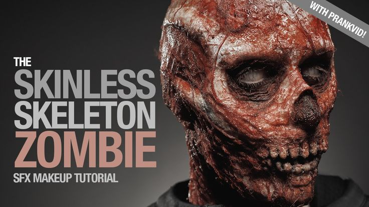 The Skinless Skeleton Zombie Sfx Makeup Tutorial