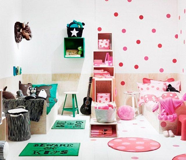 Ideas para decorar habitaciones mixta muebles y - Muebles para cuartos de ninos ...