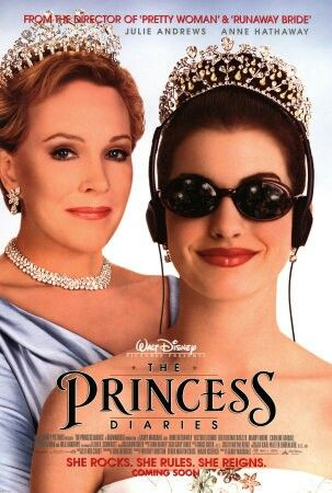 The Princess Diaries - (2001) - starring Anne Hathaway and Julie Andrews -  Mia Thermopolis has just found out that she is the heir apparent to the throne of Genovia. With her friends Lilly and Michael Moscovitz in tow, she tries to navigate through the rest of her 15th year.