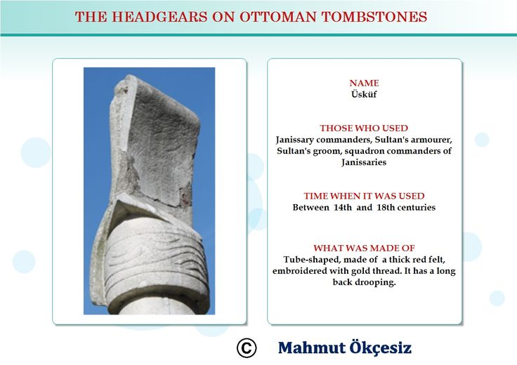 Sultan's armorers, Sultan's grooms and squadron commanders used to wear this head gear