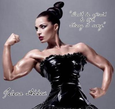 """""""The real message she hopes women and girls take away from her picture is bigger than one ad campaign: 'Don't be afraid to lift! Strong is sexy!'"""" (Jelena Abbou MAC ad)"""
