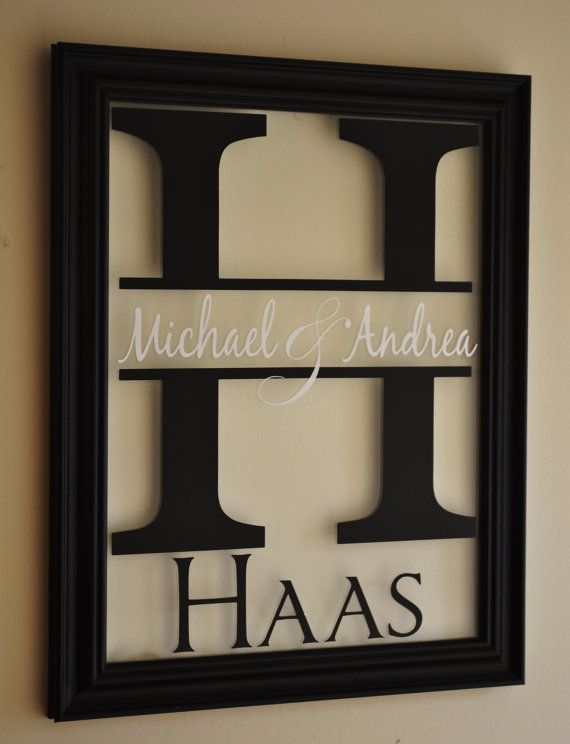 so Cool! Personalized Family Name Sign Picture Frame