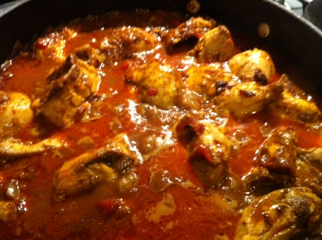 Indian. Frithad an East Indian favourite in Bombay. Indian Spicy currymade using spices and chicken.