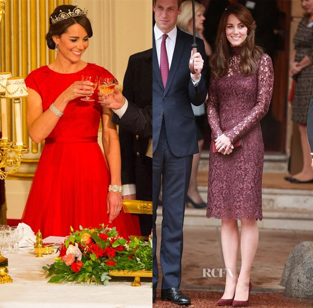 Catherine, Duchess of Cambridge In Dolce & Gabbana and Jenny Packham – President of the Peoples Republic of China State Visit