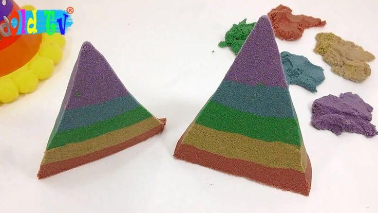 Как сделать цветной колпак с днем рождения Кинетический песок Old Tv !