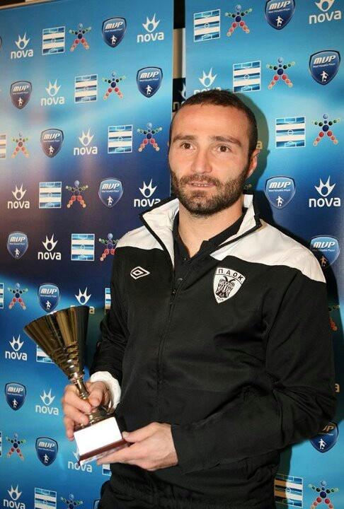 Dimitris Salpingidis MVP award for Matchday 10 of Greek Super League