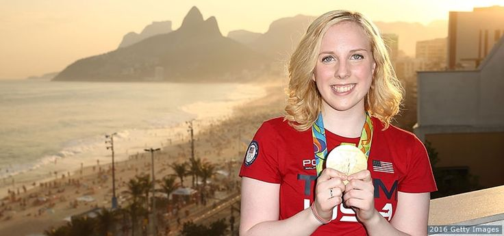 Ginny Thrasher, Shooting  -    Olympic champion Ginny Thrasher visits the USA House at Colegio Sao Paulo after winning gold in the women's 10-meter air rifle final on Aug. 6, 2016 in Rio de Janeiro.