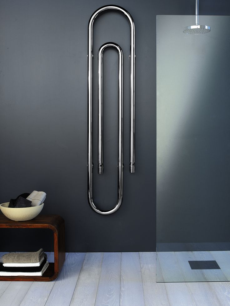 ♂ Modern minimalist interior design bathroom Steel Decorative radiator GRAFFE by SCIROCCO H | #Design Bruna Rapisarda, Lucarelli-Rapisarda