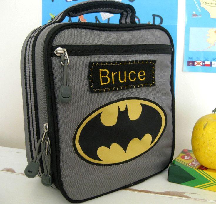 Personalized Kids Lunch Box Pottery Barn  -- Batman