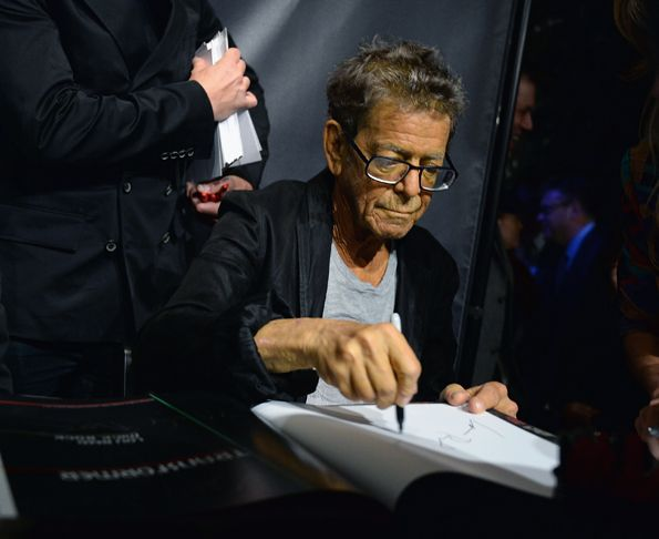 Signature Flare - Lou Reed attends John Varvatos Presents Transformer By Lou Reed And Mick Rock in New York City on October 3rd, 2013. (His last picture?)