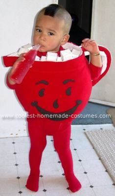 Homemade Baby Kool Aid Man Costume: This year my husband has been laid off more than once and this month has really hit us hard, so unfortunately I did not have much money to work with this