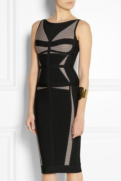 Hervé Léger bandage and mesh dress