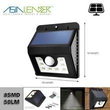 Lumière Extérieure Solaire Lumière de Sécurité pour Jardin Patio Lumineux 8 LED Solaire Motion Sensor lumières