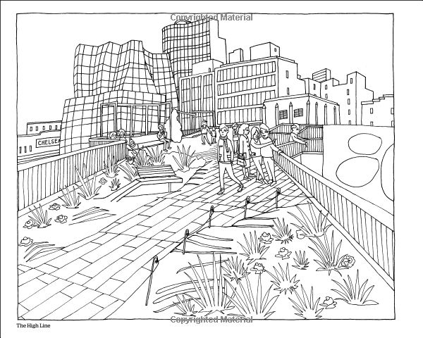 Color This Book New York City Abbi Jacobson Adult City Coloring Pages For Adults