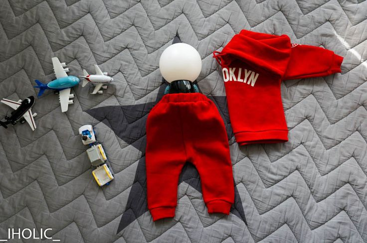 Kids Clothing Swear Suit Brooklyn Red Made in Korea