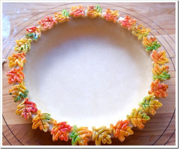 Colored Pie Crust | colored pie crust for thanksgiving
