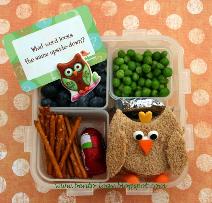 owl bento lunch repinned by play with your food from scrumpt pinterest. Black Bedroom Furniture Sets. Home Design Ideas