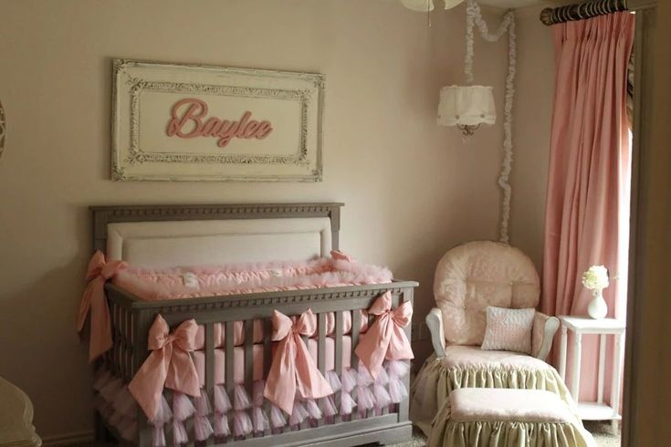 pink and cream shabby elegance nursery shabby chic nurseries rocking chairs and shabby. Black Bedroom Furniture Sets. Home Design Ideas