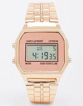 New Look Digital Rose Gold Watch  cute & cool