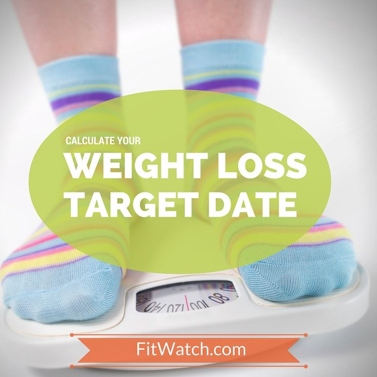 Weight Loss Calculator - Calories Needed to Reach Your Target Date	https://www.fitwatch.com/calculator/weight-loss-target-date