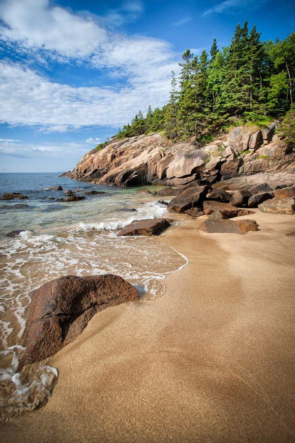 Sand Beach Acadia National Park Maine USA