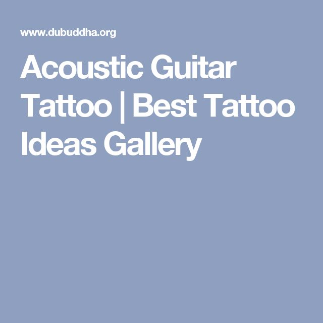 Acoustic Guitar Tattoo   Best Tattoo Ideas Gallery