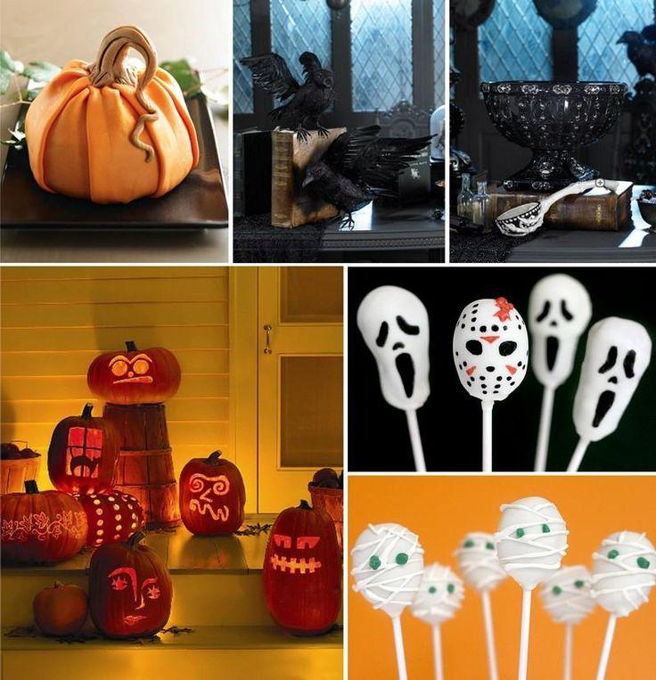 Halloween Deko selber machen - Kürbisse schnitzen und vor dem Hauseingang arrangieren