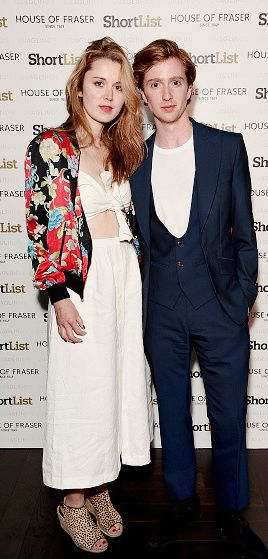 Emily Bevan and Luke Newberry attend the ShortList and House of Fraser London Collections: Men closing night party Quaglino's